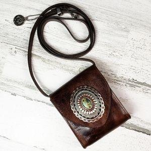 Genuine Leatherock Crossbody/Shoulder Bag